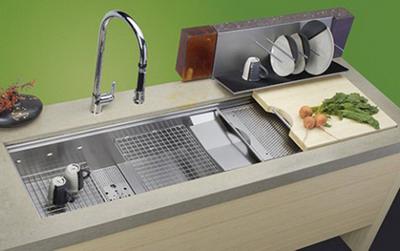 Chậu rửa bát âm cho tủ bếp hiện đại