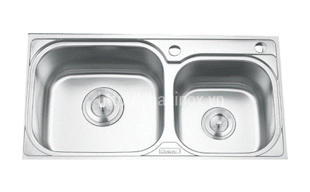 Chậu rửa bát inox 2 hố GD5102